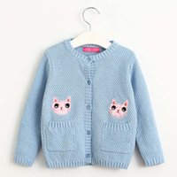 american standard cat - Cat Knitted Sweaters Children Cardigan Girls Tops Crochet Cardigan Girl Dress Sweater Coat Child Clothes Kids Clothing Lovekiss C27247