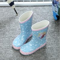 Wholesale 2016 Girls Princess Cartoon White Snow Rain Boots Girls Non Skid Rubber Boots Children s Warmth Pink Sweet Shoes