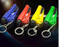 Wholesale 500pcs Car Window Glass in Safety Emergency Hammer Seat Belt Cutter Tool Keychain