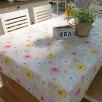 Wholesale 135 CM PVC Waterproof oilproof tablecloth high temperature resistant coffee table mat table cloth table cover