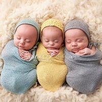 bedding photos - Fedex DHL Free Colors Baby newborn photography props Cotton Soft Photo Wrap Cloth Blankets Bedding Towels for infant accessoire L199