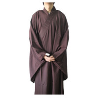 Wholesale Shanghai Story Shao lin Temple Zen Buddhist Robe Brown Monk Meditation Kung Fu Uniform