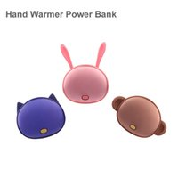 battery power heater - cartoon Hand Warmer Power Bank real mah Multifunctional External Battery Pocket Heater Portable PowerBank for iPhone Samsung