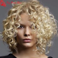 Wholesale Top Quality Blonde Wigs Short Hair Full Lace Blonde Human Hair Wigs Short Curly Blonde Lace Front Wig For White Women Bleached Knots
