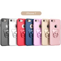 bearing support - Bear Metal cell phone cases with PC support rings protect mobile phone cases for iphone plus iphone plus