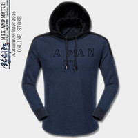 Wholesale 2017 Mens Balmain High quality Autumn Winter male plus size fashion sport jacket Casual with hood male skulls tracksuit