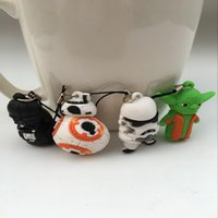 Wholesale 2016 New Arrive cm Mixed Design Star Wars PVC Figure Yoda BB Minifigures Pendant For Kids Gift Random Delivery F