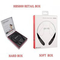 Wholesale HBS Wireless Headphone Earphone Bluetooth Stereo headset Wireless earphone sport headphone For Smartphone without logo with Retail Box