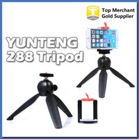 Wholesale New YUNTENG Brand MINI Tripod with Clip holder for Selfie GoPro Camera DSLR Digital Camera iPhone plus smart phone