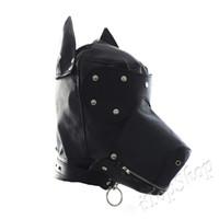Precio de Traje de cuero completo-Traje de fiesta de cuero Gimp perro Puppy Hood Full mascarilla fetiche Halloween UK # R501