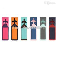 airplane pilot gifts - Fashion Travel Airplane Luggage Label Bag Tag ID Pilot Flight Cabin Crew Travel Gift Present Travel Accessories YO MO12