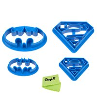 batman cookie cutter - Bakeware Fondant Cookie Pastry Cutters Batman Superman Baking Cooking Confectionery Tools for Cake Decorating Cake Slicer P3437