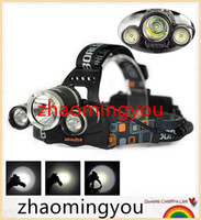Wholesale High Power Lumen LED XML T6 LED Headlamp Healight Head Lamp Light Torch for Camping Hunting