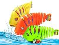 Wholesale 2016 new Activity Wind up Toy fish clockwork toy Colorful fish moving tail swimming fish Children s Educational Toy