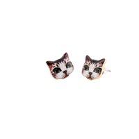 best del - 2016 Nueva Moda Colorido Diseño Animal Lindo Pendientes Del Gato Negro con Ojos Grandes Pendientes para Las Mujeres best Gift