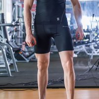 Wholesale Men Sports Apparel Skin Tights Compression Base Under Layer Short Pants Quick Dry Leggings Gym Sports Fitness Joggings Clothing