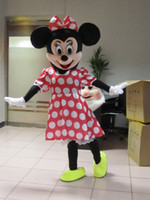 minnie mouse dress - Hot Sale Red Minnie Mouse mascot costume Adult Size Fancy Dress Holloween Costume EPE Head