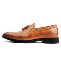 alta heels - 2016 Nuovo di Alta Qualità Del Cuoio Genuino di Lusso degli uomini Mocassini A Punta Toe Slip on Appartamenti Nappa Vestito Ufficio Scarpe P