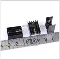 aluminium heatsink extrusion - x14 x9 mm Extrusion Aluminum Heat Sink Cooler For TO TO220 with Needle aluminium extrusion heatsink