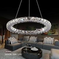 Wholesale Crystal Ring LED Chandelier Crystal Lamp Light Lighting Fixture Modern LED Circle Light D300mm