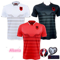 Wholesale Albania Soccer Uniforms Jerseys Albania national team men European Cup Football soccer jersey Camisetas De Futbol Shirts