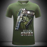 big men magazine - New Summer style MenT Shirt D Pistol Magazine Tshirts O Neck Short Sleeve sport t shirt men Big Size S XL gym clothing pp