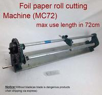 Máquina de corte MC72, máquina de corte del rodillo de papel caliente del papel, estampando el cortador del papel de la hoja (anchura máxima del rodillo de la hoja del corte en los 72cm)