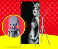 aluminium banner - 2pcs Aluminium poster holder portable display stand POP indoor X banner sign portrait poster holder display rack stand