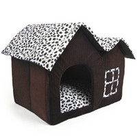 Wholesale Detachable Double Roofs Pet Dog House Indoor Winter Warm Cat Bed Kennel for Small or Medium Size Pet