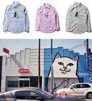 Wholesale VISVIM Shirts Men Cotton Burderry Brand Clothing Casual Shirts Nermal Ripndip Pocket Shirt Camisa Masculina VISVIM Shirts