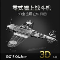 apache helicopter models - 3D puzzle model Lancaster Fighter Bomber Cessna Skyhawk Apache Helicopters airco Metal educational toys airplane scale model kit
