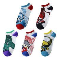 Wholesale Cartoon fashion male socks color bags