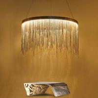 Wholesale 2016 LED luxury tassel aluminum industry chain dining room pendant light handmade retro lamp luminaire suspendu