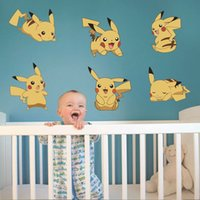 baby bedroom games - Removable Cartoon DIY Cute Picachu Peel Wall Sticker Kid Child Baby Nursery Game Room Wall Decor
