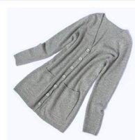Wholesale Bargain sale cashmere cardigan long sections thicker coat solid color sweater coat female Spring and Autumn Korean Slim big yards sweater