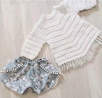 Girl baby girl white sweater - INs Hot Infant Baby Girls Knit Tassel Sweaters Toddler Princess Crochet Pullover Girl Autumn winter Christmas Clothing