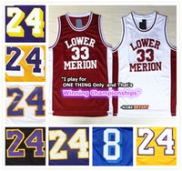 high waisted shorts - Stitched Swingman SW Kobe Bryant LA Lower Merion High school Jersey Cheap Retro All star Short sleeve Throwback Hot sale