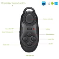 Wholesale 4 in Bluetooth Gamepad Controller Shutter For iPhone Laptop TV Box VR D Glasses Virtual Reality Glasses Bluetooth Controller