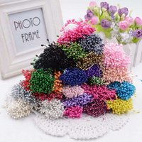 artificial sugar - 300pcs Mini Pearl Stamen Sugar Artificial Flower For Wedding Decoration DIY Pompom Scrapbooking Decorative Wreath Fake Flowers