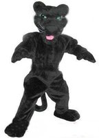 Wholesale Professional custom high quality black panther mascot costume Adult Size cartoon Costumes EMS