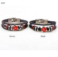 Bracelet en cuir 2016 Hot Star Charm Bangles Bracelet en cuir pour homme Bracelet en alliage multi-couches Infinity Large bracelet nautique Bijoux
