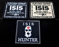 Wholesale VP Hunting Permit ISIS Embroidered Patches Outdoor Tactical D Patches Combat Badge Fabric National Flags Armband Badges sew on patches