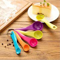 Wholesale 2016 new Home Kitchen Color Measuring Spoons Mixed Colors Set Cute Metering Spoon Random Color