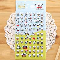 Wholesale Cute panda dimensional bubble stickers diary decorative cartoon phone sticker