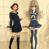 Wholesale Anime TIGER DRAGON Toradora Aisaka Taiga salior Cosplay Costume sexy halloween costumes for women School Suit Uniform