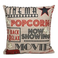 Wholesale Letters Pattern Cotton Linen Throw Pillow Case Cushion Cover Home Sofa Car Decor