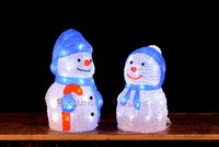 Wholesale 3D Acrylic led christmas lights snow man led christmas decoration