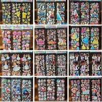 Wholesale 10pcs Cartoon Sticker Princess Mouse Stickers for Children Kids Decorative Foam Stickers Gift for Baby Boys and Girls