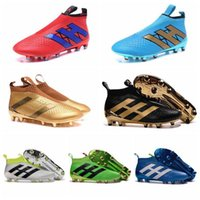 Wholesale Kids Mens Women Soccer Cleats ACE Purecontrol FG Children High Tops Football Boots Sales Boys Soccer Boots Youth Soccer Shoes New