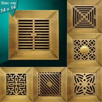 bathroom building materials - 14 cm floor drainer bathroom drainer Brass material antique finish Super big drainer high quality building material HJ